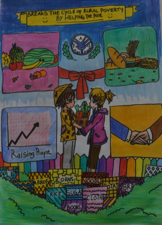 world food day 2015. large Salma Hazimzh 12 SMP